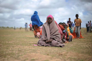 Women waiting for food aid at a distribution center in the city of Afgoye, Somalia. Libya, Sudan and Somalia, three African Countries on Trump's immigration ban executive order.