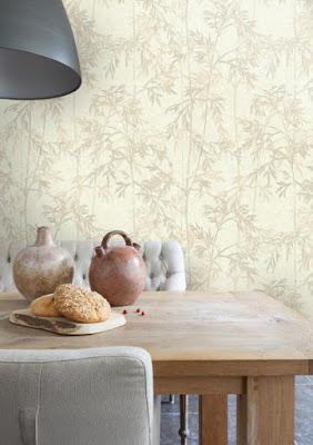 papel pintado planta de bambu 68688