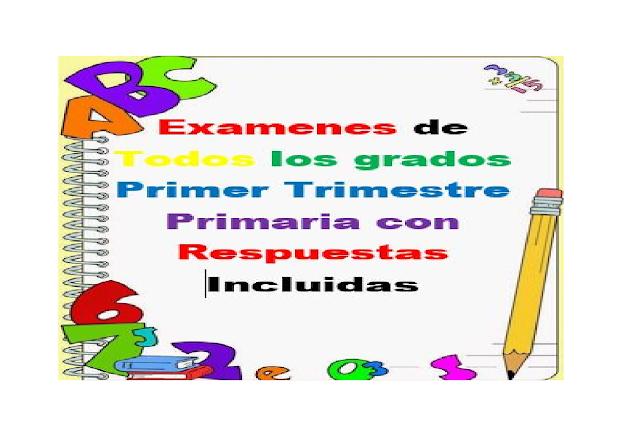 Primaria,examenes,trimestre,niños,evaluaciones