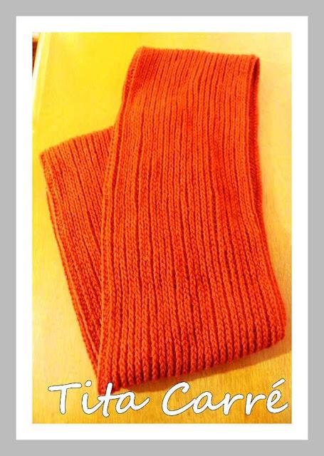Gola Capuz Ferrugem em crochet