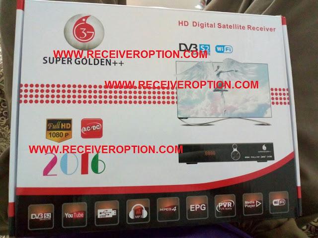 SUPER GOLDEN++ HD RECEIVER CCCAM OPTION SOFTWARE