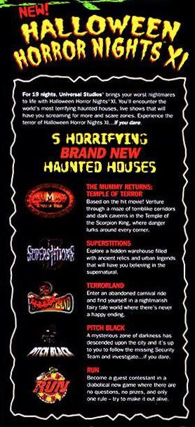 Theme Park Nostalgia Halloween Horror Nights Xi 2001