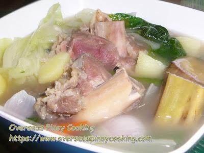 Boiled Ham Bone, Pinoy Nilaga