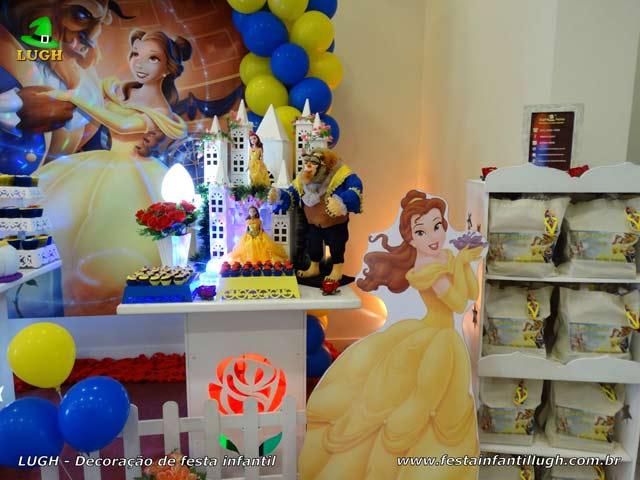Decoração de aniversário A Bela e a Fera - Festa infantil