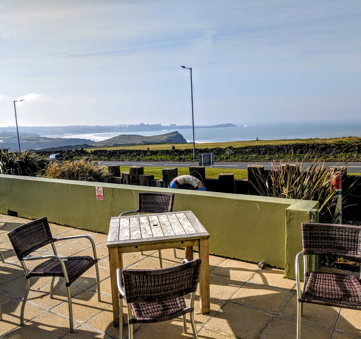 The Sands Resort Cornwall Review | A Family Hotel with Kids Club near Newquay  - view from lounge terrace