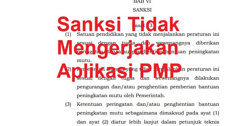 Sanksi Tidak Mengerjakan Aplikasi PMP | Website Nasty