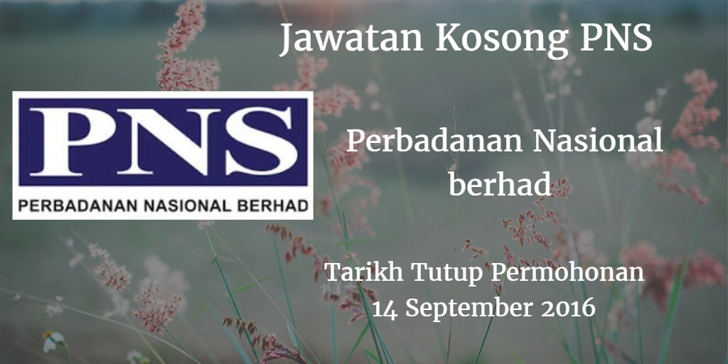 Jawatan Kosong Perbadanan Nasional berhad 14 September 2016
