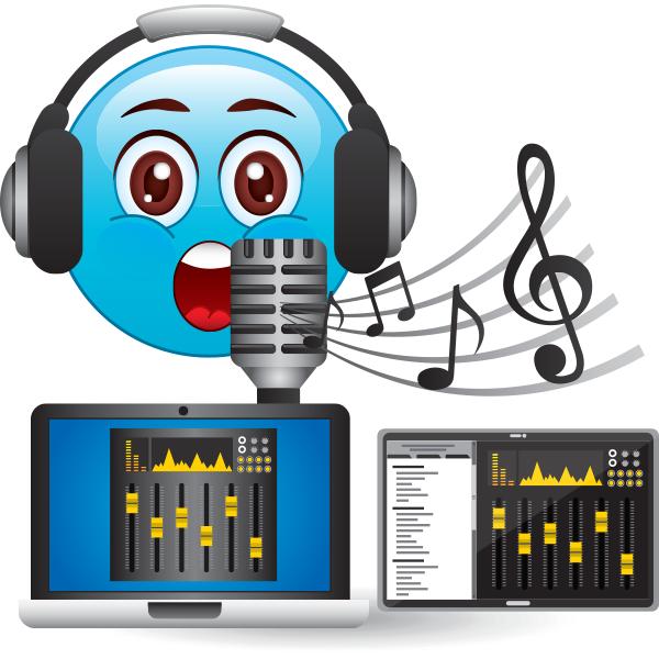 Emoji recording music