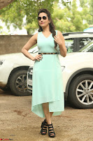 Manjusha in beautiful thin green gown At Jaya Janaki Nayaka le Logo Launch ~  Exclusive 128.JPG