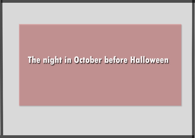 The night in October before Halloween
