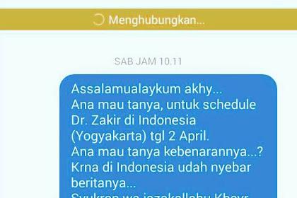 Maaf, Dr Zakir Naik Belum Pasti Akan Datang Ke Indonesia