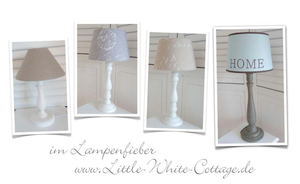 little white cottage neue lampen im shabby chic stil. Black Bedroom Furniture Sets. Home Design Ideas