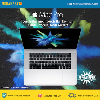 Apple MacBook Pro 2017 Touch Bar and Touch ID, 15-inch, 2.8GHz, 256GB, 16GB, MPTU2