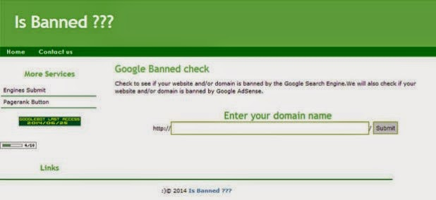 Latest 2015 Check if a websiteand blog & Domain is banned ...