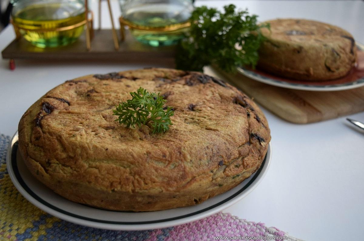 Tortilla vegana de berenjena y calabac n sabrina s sea for Cocina vegana gourmet
