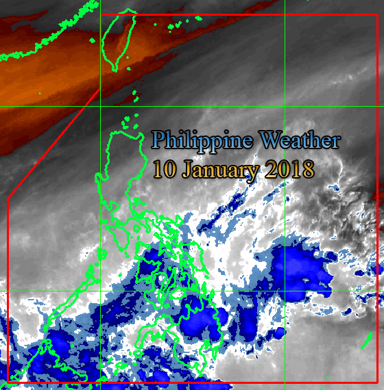 Philippine Image taken via PAGASA Weather Satellite, HIMAWARI.