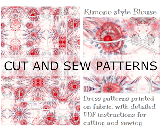 Simple cut and sew patterns for dresses, blouse, home decor and other sewing projects