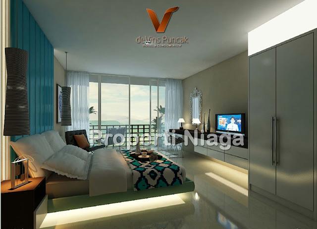 View-Bedroom-Type-A-(33m2)-Devins-Puncak-Hotel-And-Condominium