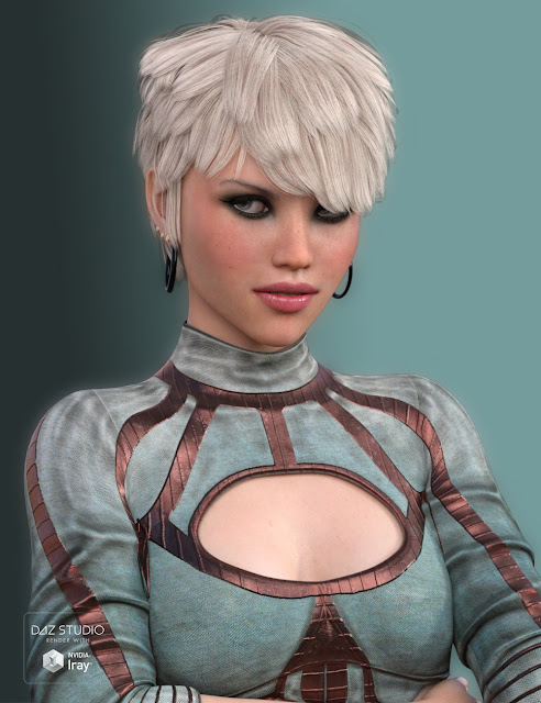 Evi Hair for Genesis 3 Female
