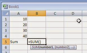 Notes on using Microsoft Excel Functions