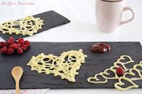 Crepes de encaje en forma de corazón- San Valentín