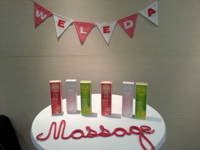 weleda bioty tour atelier massage