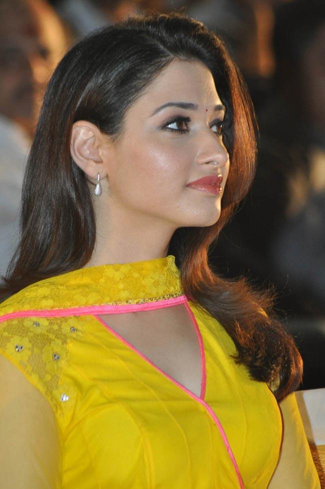 Tamanna Latest Hot Stills In Yellow Churidhar