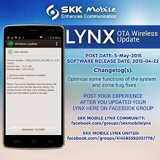 SKK LYNX OTA UPDATE