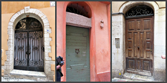 The doors of Nice, France