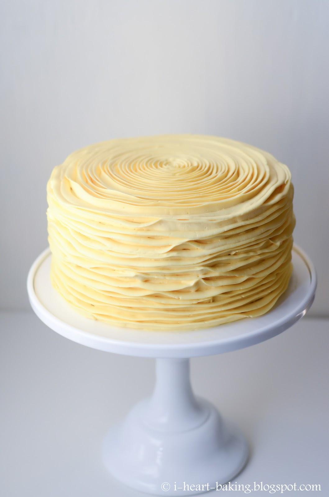I Heart Baking Yellow Ruffle Lemon Cake Filled With