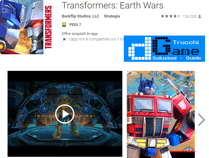 Trucchi Transformers: Earth Wars Mod Apk Android v1.32.0.14479