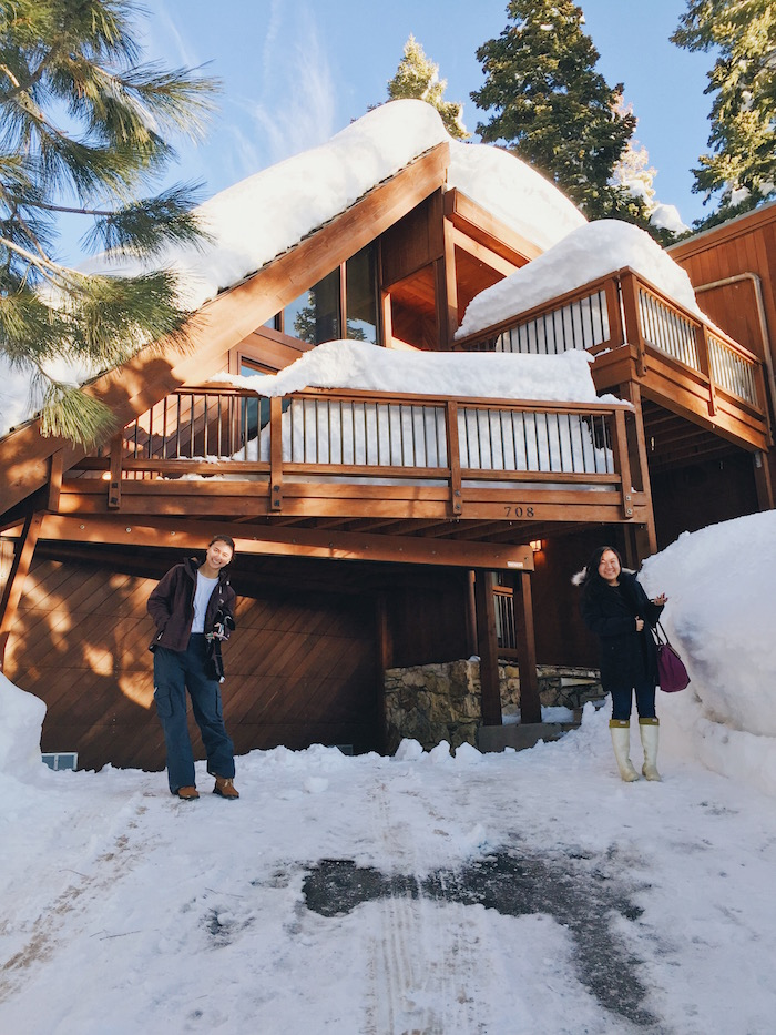 Snowhere i 39 d rather be a winter weekend in tahoe for Lake tahoe winter cabin