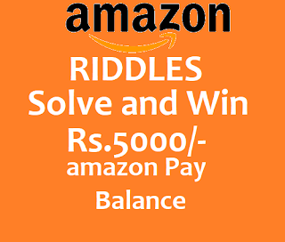 Answers - Amazon Riddles Quiz Solve Today and Win 5000/-