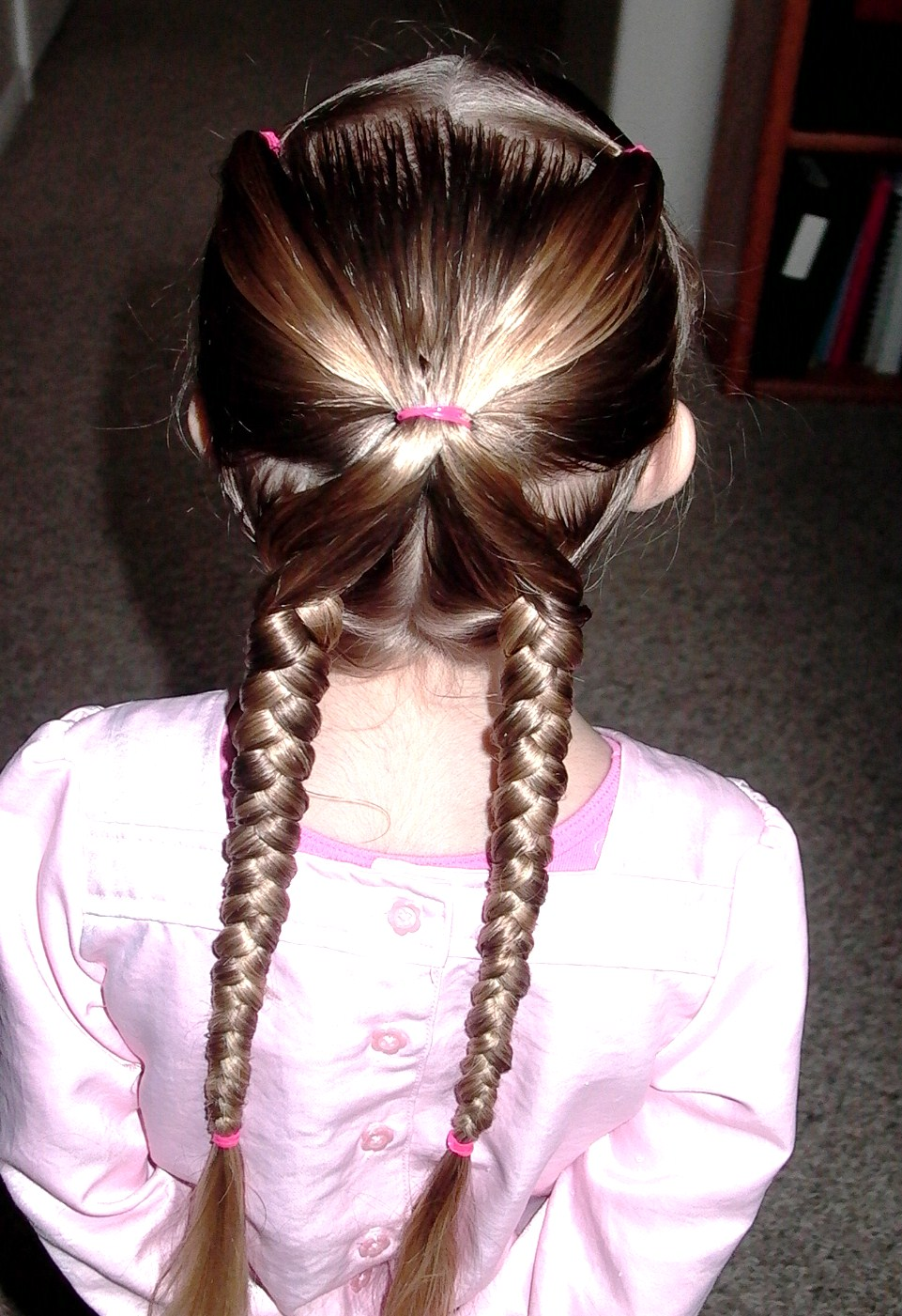"Little Girl's Hairstyles: ""X"" Braid Hairdo"