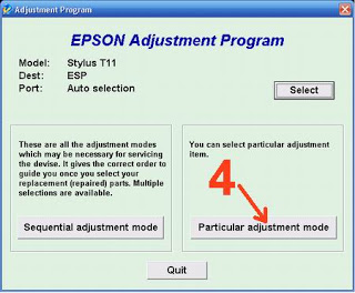 Cara Reset Epson Stylus T11