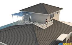 rumah mewah dua lantai dengan rooftop