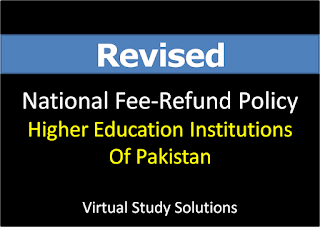 Revised Fee-Refund Policy of Education Institutions