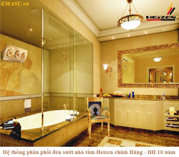 Đèn sưởi Heizen 3 bóng vàng HE3B