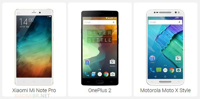 Xiaomi Mi Note Pro vs OnePlus 2 vs Motorola Moto X Style