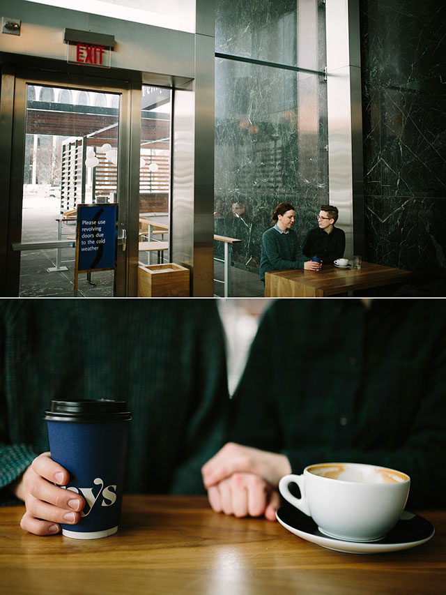 A pre-wedding coffee date at Penny's in MPLS | Photography by Jessica Holleque