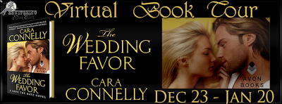 http://bewitchingbooktours.blogspot.com/2013/12/now-on-tour-wedding-favor-by-cara.html