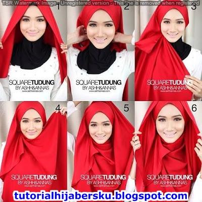 tutorial hijab segi empat simple, tutorial hijab segi empat simple tanpa ciput, hijab pashmina simple, hijab pashmina simple untuk wajah bulat, memakai hijab segi empat, cara memakai hijab segitiga