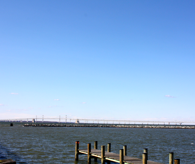 Bay Bridge crossing the Chesapeake Bay in Maryland