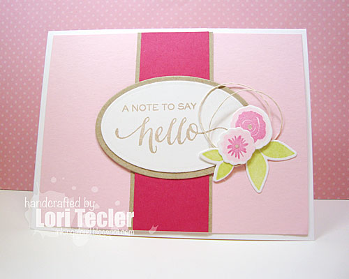 A Note to Say Hello card-designed by Lori Tecler/Inking Aloud-stamps from WPlus9