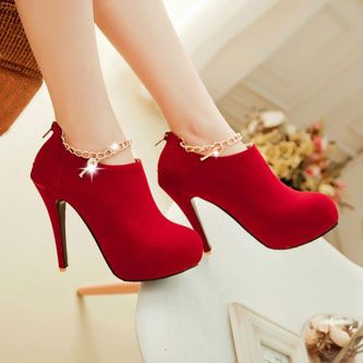 Charmed Red High Heel Boot
