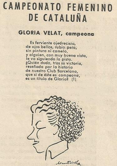 Caricatura de Glòria Velat