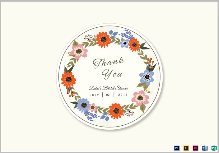Navy Wedding Favor Label Template