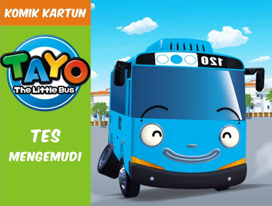 Tayo The Little Bus Tes Mengemudi Komik Kartun