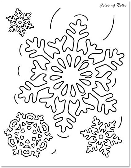 christmas snow flacks coloring pages - photo#15