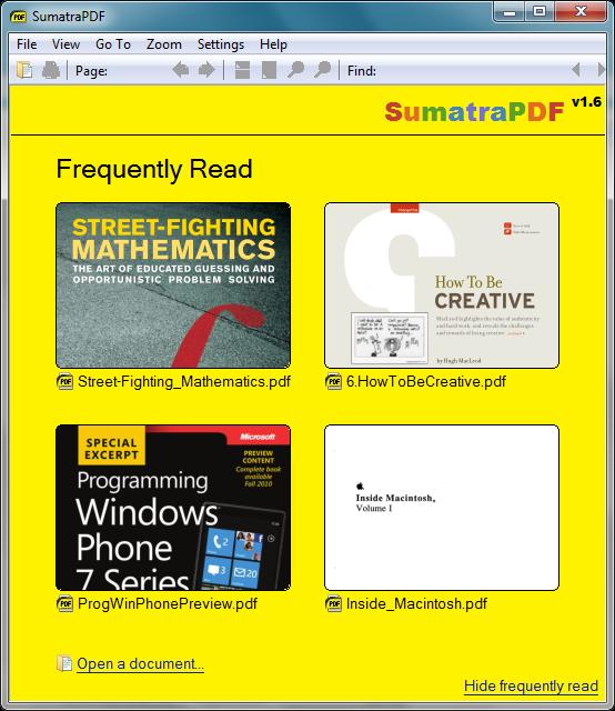 تحميل Sumatra PDF لفتح ملفات PDF مجانا للكمبيوتر - نسخة محمولة